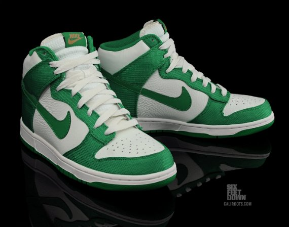 Nike Dunk High - White / Green