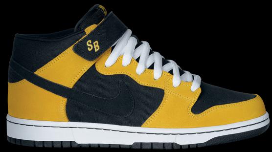 Nike Dunk Mid Pro SB - Black / Black - Varsity Maize