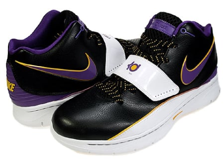 Nike KD II (2) - Black / Varsity Purple - White
