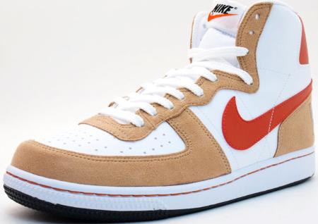 Nike Terminator High - White   Khaki - Red  afbcc3fdf