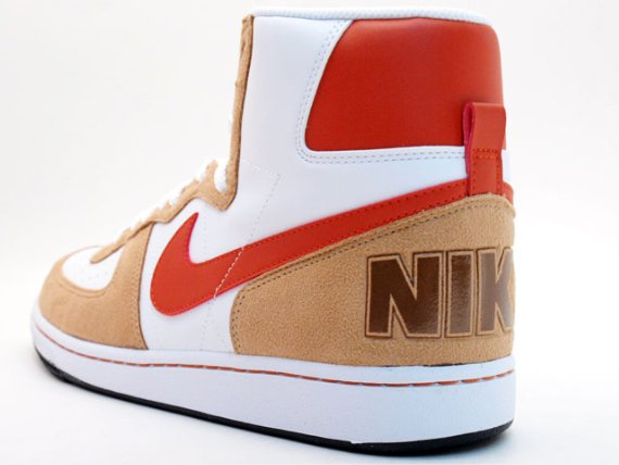 Nike Terminator High - White   Khaki - Red  afbcc3fdf