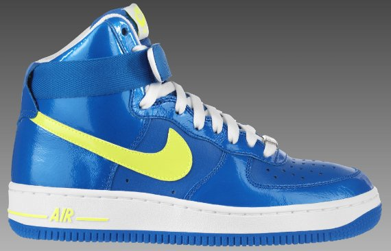 Nike Women's Air Force 1 - Blue Sapphire / Volt - White