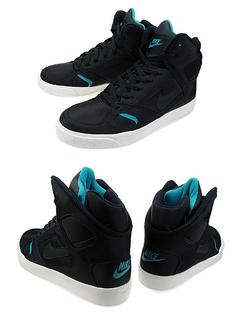 Nike Auto Flight High - Obsidian : Marina Blue - White