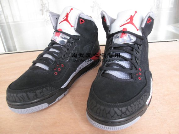 Air Jordan Rare Air - Black / Varsity Red - Grey