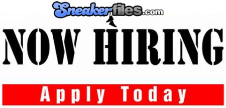 Sneaker Files is Now Hiring!