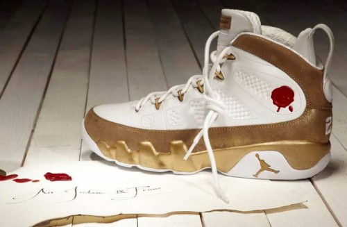 outlet store 8f161 043f8 Tomorrow, the Air Jordan IX Retro Premio BIN 23 pictured here in white metallic  gold ...