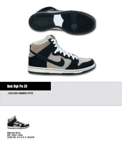 Nike SB Dunk High- 'Grit-Black/Fossil' Spring 2011