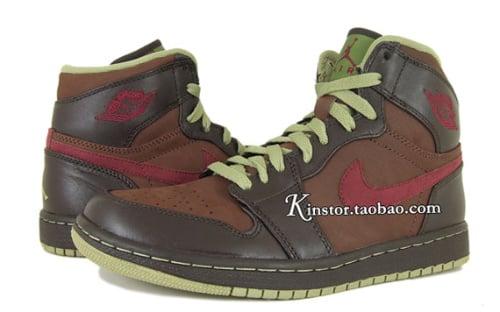 Air Jordan 1 Retro High- Chocolate- Velvet Brown- Garnet