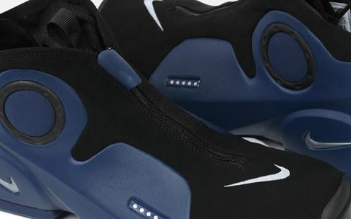 Nike Air Flightposite II Black / Midnight Navy / Metallic Silver