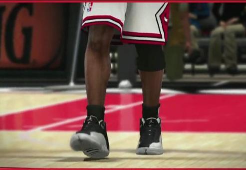 Jordan wearing Air Jordan XII in NBA 2K11