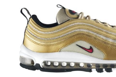 Nike Air Max 97 LE Metallic Gold / Varsity Red-White-Black