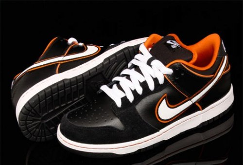 July 2010 Nike SB Dunk Low - Black-White-Orange Blaze