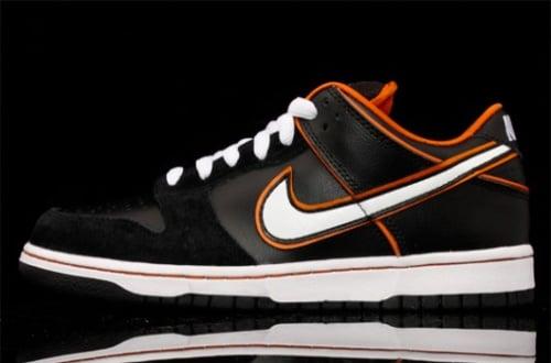July 2010 Nike SB Dunk Low - Black-White-Orange Blaze