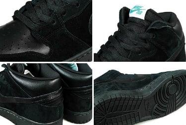 Nike SB Dunk Mid- Black-Aquamarine