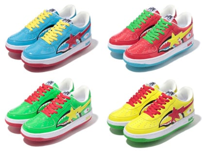 A Bathing Ape Bapesta - 'Shark' Fall Collection