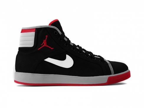 Air Jordan Sky High Black / Cement / Varsity Red Available