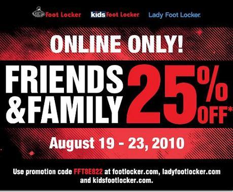 Foot Locker Friends & Family Discount
