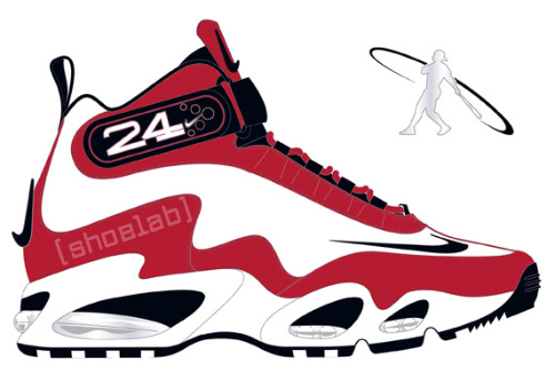 Nike Air Griffey Max 1 - White - Black - Sport Red - Metallic Silver
