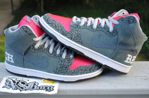 Nike SB Dunk High 'Brain Wreck' - Custom By CemeteryDrive