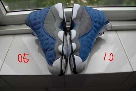 Air Jordan Retro XIII 'Flint' '05 vs '10