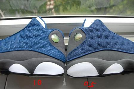 Air Jordan Retro XIII 'Flint' '05 vs '10