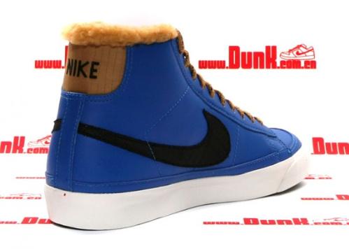 Nike Blazer Mid - Blue Sapphire/Golden Harvest-Fur