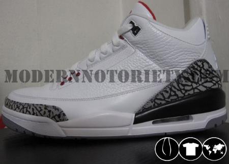 Air Jordan Retro III 'White Cement' - 2011 Release
