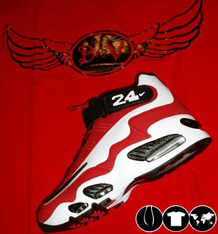 Nike Air Max Griffey 1 White-Black-Sport Red-Metallic Silver