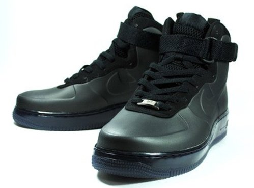 Nike Air Force 1 Foamposite - Black - New Images