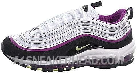 Nike Air Max 97 CL GS White/ Liquid Lime-Black-Red Plum
