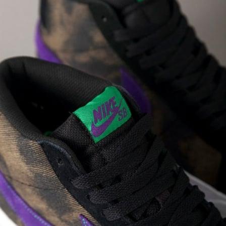 Nike SB Blazer Mid - Black/Varsity Purple-Volt