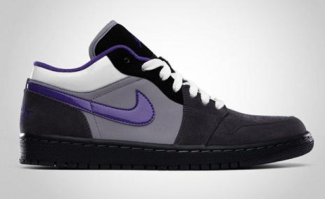 Air Jordan 1 Low Phat Anthracite / Varsity Purple