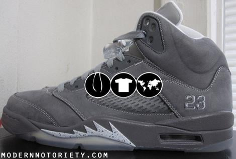 Air Jordan V Light Graphite / White-Wolf Grey Detailed Video