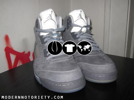Air Jordan V Light Graphite / White-Wolf Grey