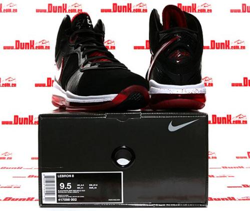 Nike Air Max LeBron VIII - Black/White-Sport Red