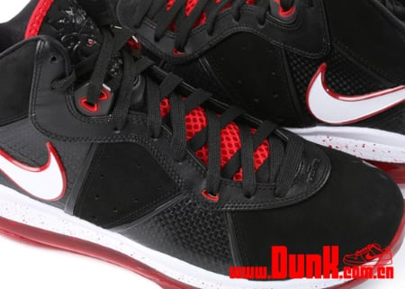 Nike Air Max LeBron VIII - Black/White-Sport Red