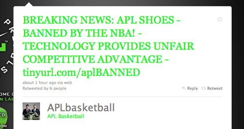 NBA Bans APL Concept 1 Basketball Sneaker