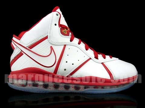 Nike LeBron 8 – 'Un-China' White/Gold-Varsity Red