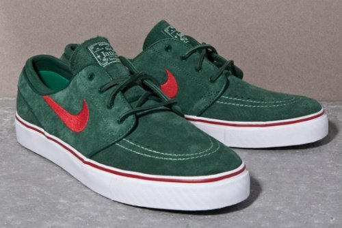 Nike SB Zoom Stefan Janoski - Festive Green/Red - Unreleased Sample