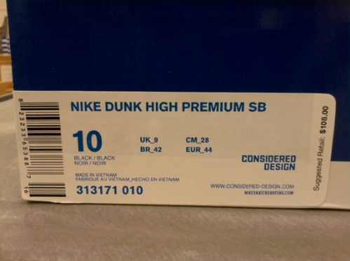 Nike SB Dunk High Premium - 'Blackout'
