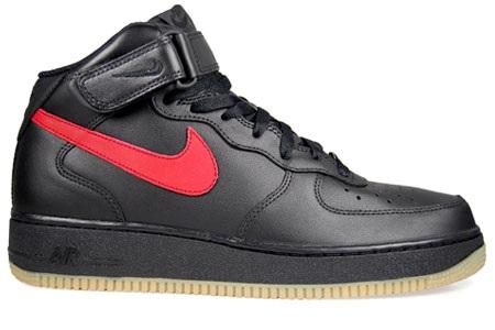NikeAF1MidBlackRedGum