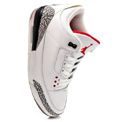 Air Jordan III White / Cement Available Early