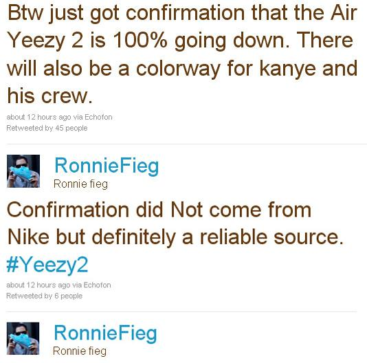 Nike Air Yeezy II Confirmed by Ronnie Fieg