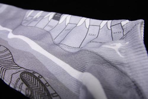 Cool Grey Jordan XI Socks