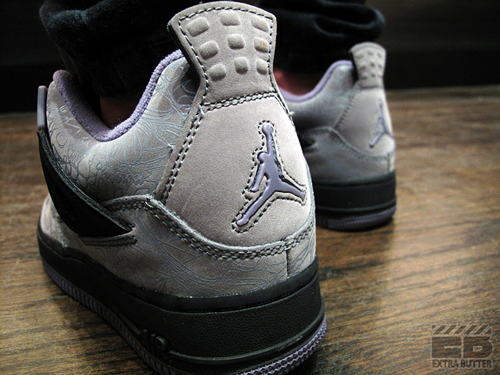 Girls Jordan IV Fusion - 'Cool Grey/Laser'