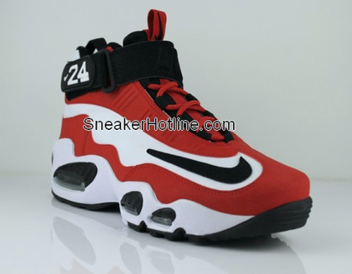 Nike Air Griffey Max 1 - White - Black - Sports Red - Metallic Silver|New Images