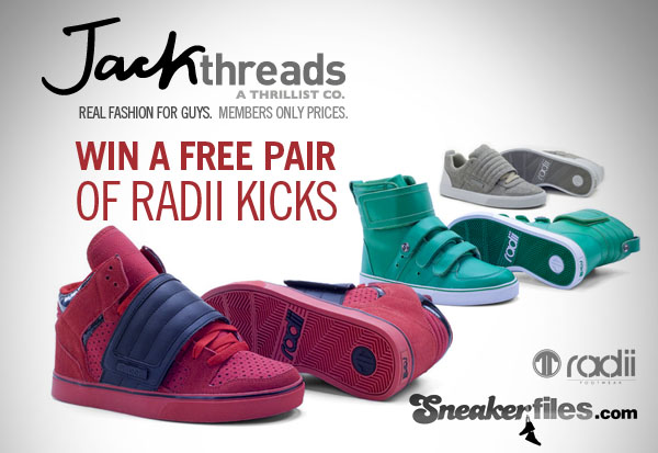 Sneaker Files x Jack Threads x Radii Giveaway