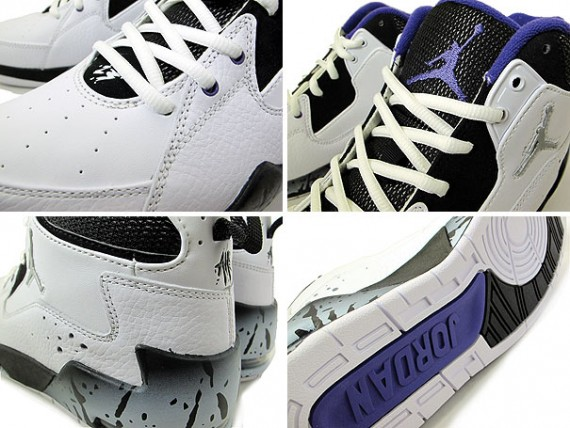Air Jordan Classic 90 – White/Metallic Silver-Varsity Purple-Black