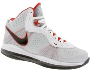 Nike LeBron 8 V2 White/ Black - Sport Red Now Available