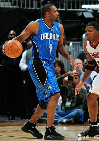 On Court: Arenas Makes Orlando Debut in Nubuck Air Jordan XII (12)